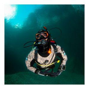 Dry Suit Diver at the Aquarium