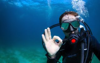 Ok Sign while scuba diving